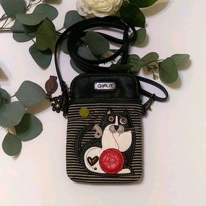 Chala cellphone holder bag with cat design